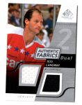 2008-09 SP Game Used Dual Authentic Fabrics #AFRL Rod Langway (30-22x2-CAPITALS)