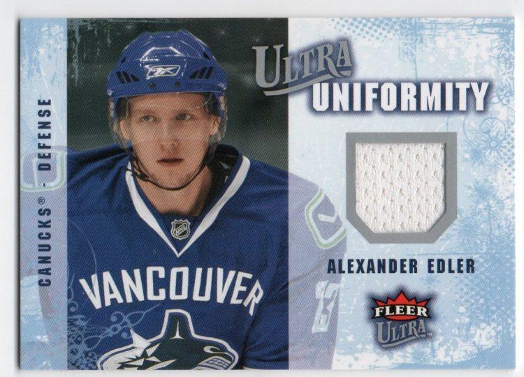 2008-09 Ultra Uniformity #UAAE Alexander Edler (30-X6-CANUCKS)