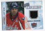 2008-09 Ultra Uniformity #UADO Donald Brashear (30-X6-CAPITALS)
