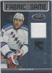 2012-13 Certified Fabric of the Game #FOGMRU Mike Rupp (30-X69-RANGERS)