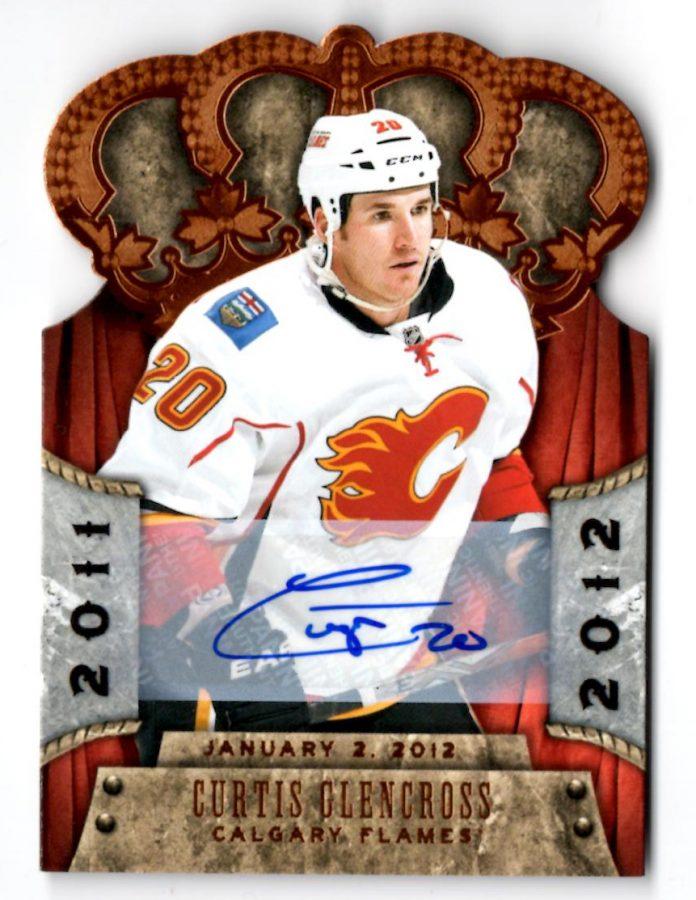 2011-12 Crown Royale Premiere Date Autographs #14 Curtis Glencross (60-X81-FLAMES)