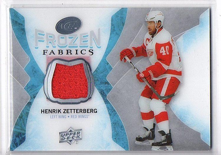 2016-17 Upper Deck Ice Frozen Fabrics #FFHZ Henrik Zetterberg (60-X50-RED WINGS)